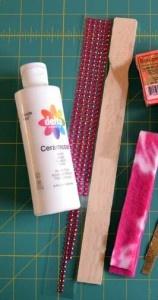 Paint Stick Snowman Supplies
