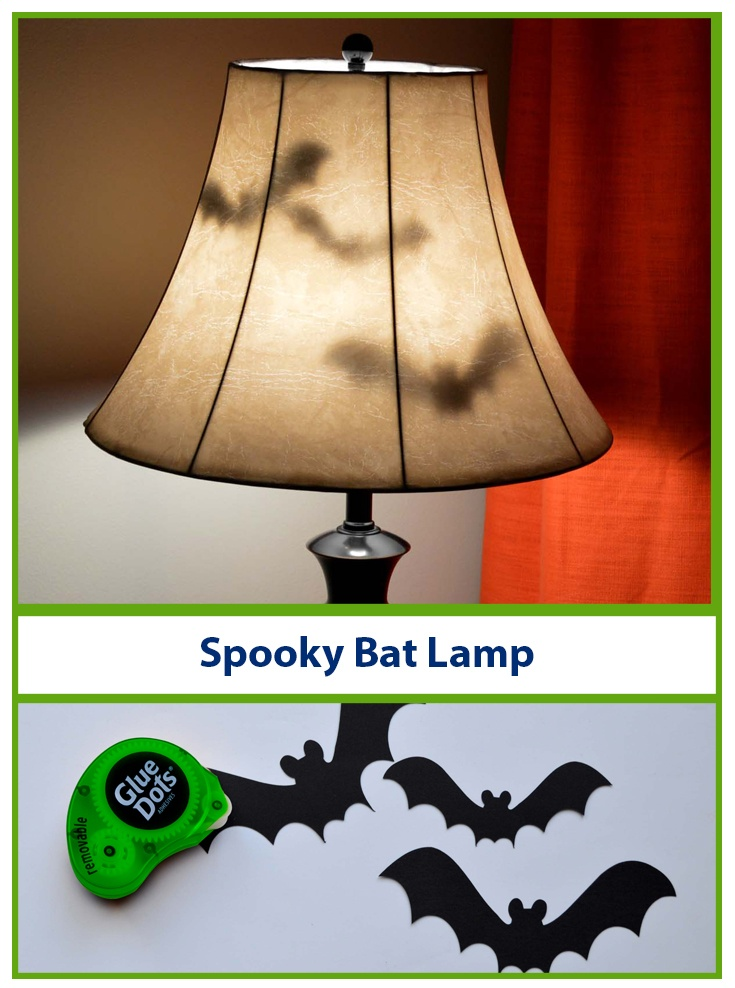 Spooky Bat Lamp with Glue Dots!