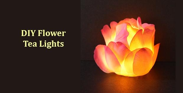 DIY Light Up Flower Tea Lights
