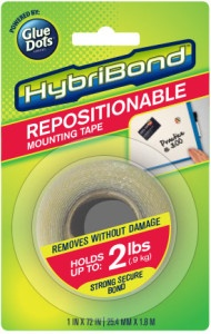 HybriBond Repositionable Mounting Tape, Powered by Glue Dots