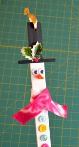 Paint Stick Snowman Detail