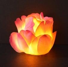 Flower Tea Light - Lit Up