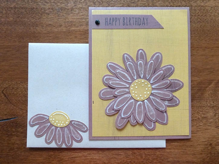 Birthday Dry Embossed Card This Cute Is Fairly Easy To Put Together And It Can Be Made In All Sorts Of Colors